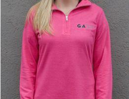 G.A. Precision Women's Pink GA Long Sleeve 1/4 zip