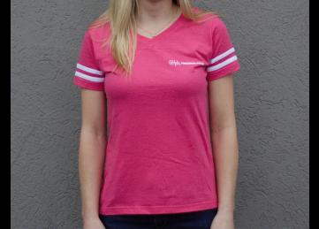 G.A. Precision Women's Pink GA Baseball T-Shirt