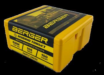 Berger 6mm 105 grain Hybrid Target Bullet