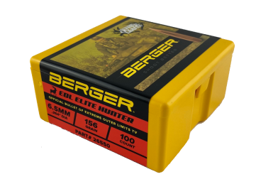 Berger 6.5mm 156 grain EOL Elite Hunter Bullet