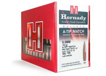 Hornady 6.5mm/.264 A-TIP Match, 153 grain, 100 bullet box