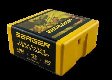 Berger 6mm 109 grain Hybrid Target Bullet